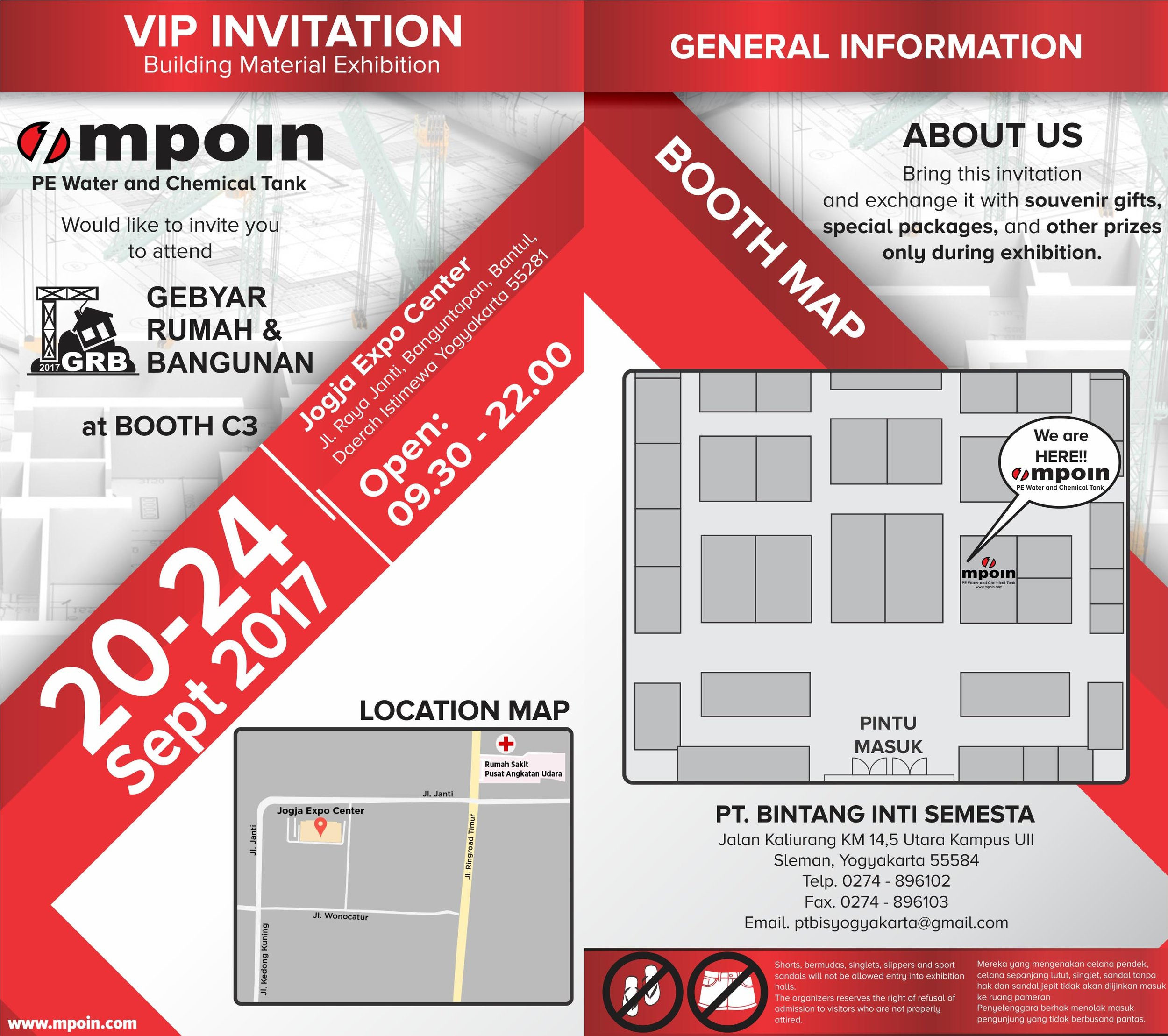 Tangki Air MPOIN PLus Pameran Jogja Expo Center