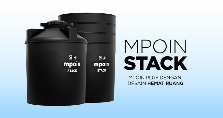 Tandon Air MPOIN STACK - Produk Toren Air Tumpuk Tangki Air Anti Lumut, Anti Pecah, Anti Bakteri