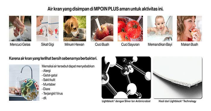 Manfaat menyimpan air di dalam tangki air MPOIN PLUS