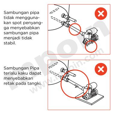 Cara Pemasangan Pipa Air Pada Tandon Air yang Salah