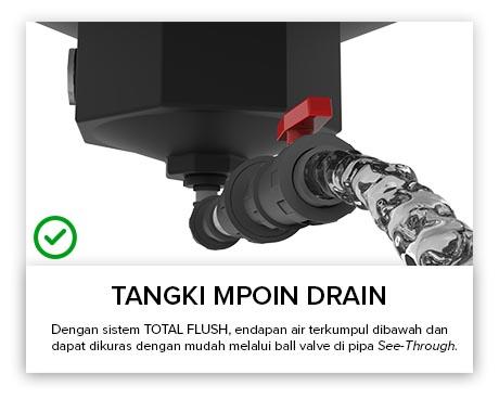 Tangki Air, Tandon Air, Toren Air, Pipa PVC - Tangki Air MPOIN DRAIN Pipa Transparan