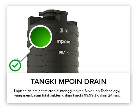 Tangki Air, Tandon Air, Toren Air, Pipa PVC - Tangki Air MPOIN DRAIN Anti Bakteri