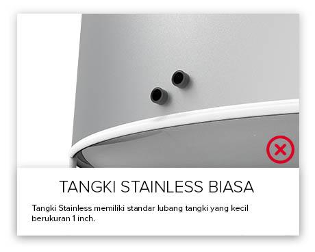 Tangki Air, Tandon Air, Toren Air, Pipa PVC - Tangki Air StainlessOutlet Kecil
