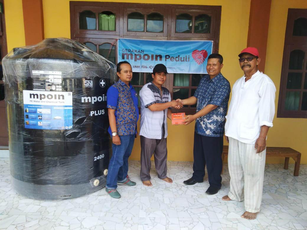 MPOIN PEDULI membantu Jember Masjid MAN BAUL ULUM di Pondok Pesa