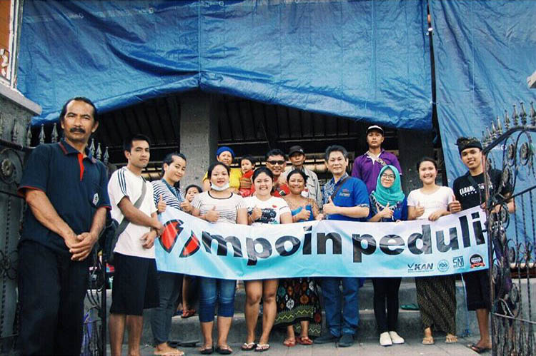 MPOIN Peduli membantu Posko Gunung Agung Karangasem Bali