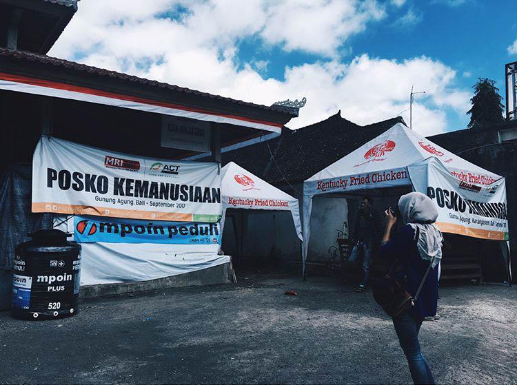 MPOIN Peduli membantu Posko Kemanusiaan Gunung Agung Kecamatan R