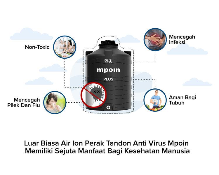 Manfaat Air Ion Perak Tandon Anti Virus Mpoin Mpoin Plus Tangki Air Tandon Air Toren Pipa Pvc