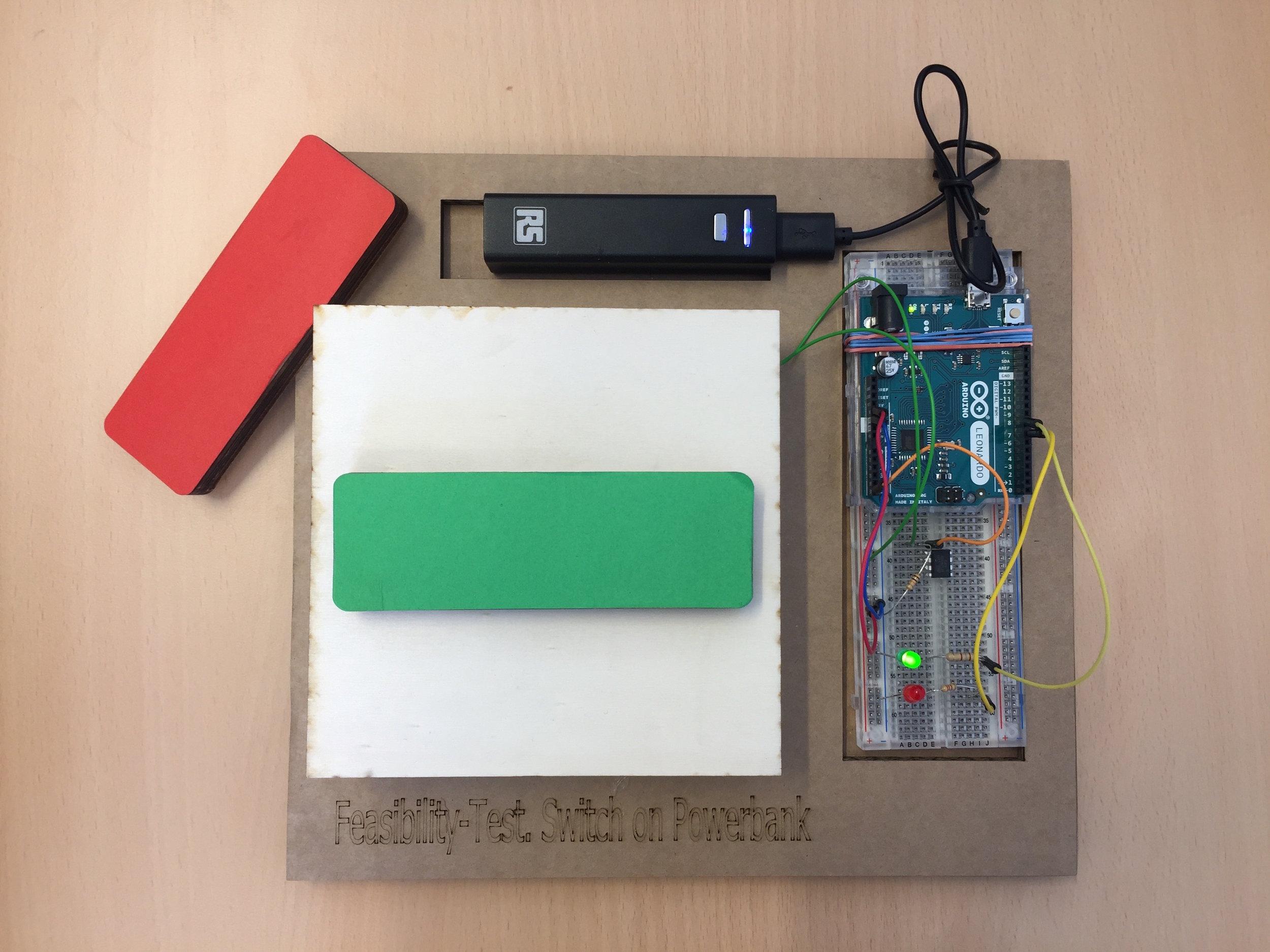 Green block activating green LED