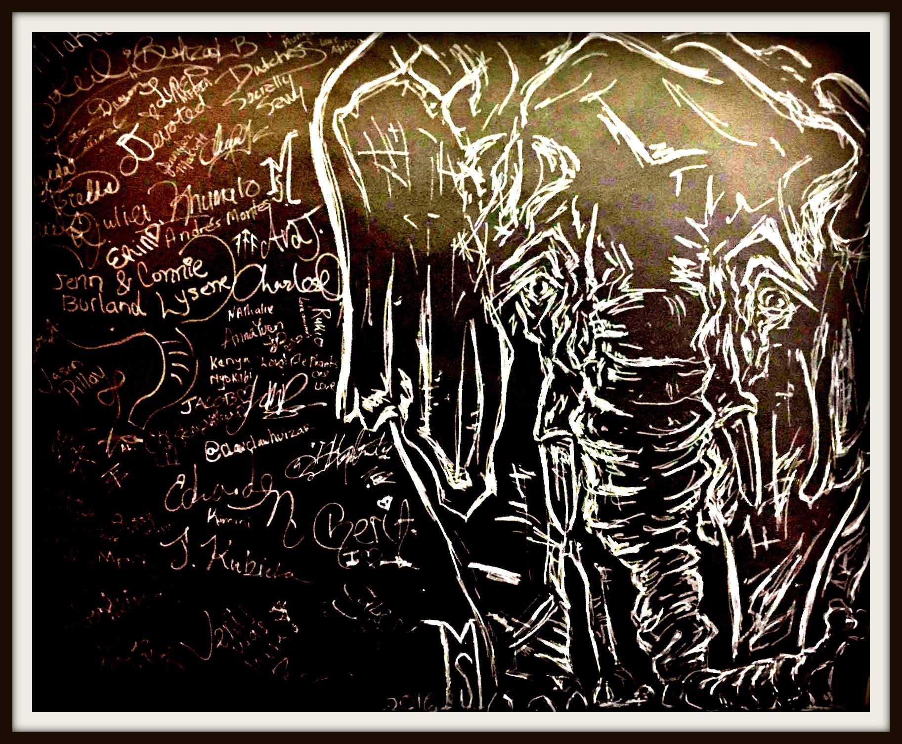 "Life sized ""elephant contract"" signed by VIP of Elephantasia SS17 & Members Elephantasia."