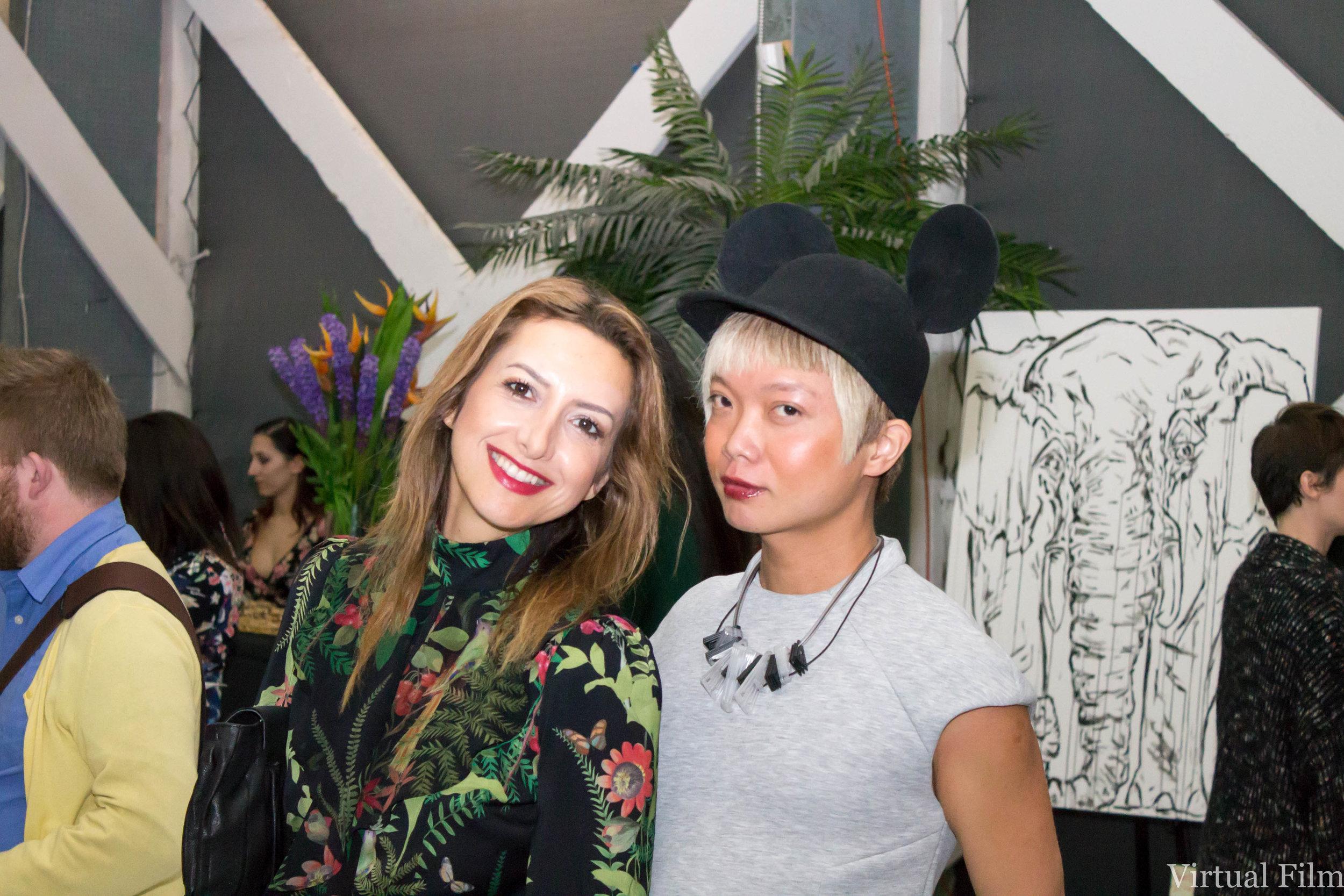 Elephantasia team reunion: Brand Director, Nazy Alvarez (Paris) & VIP Director, Victor Loo (US/Singapore)