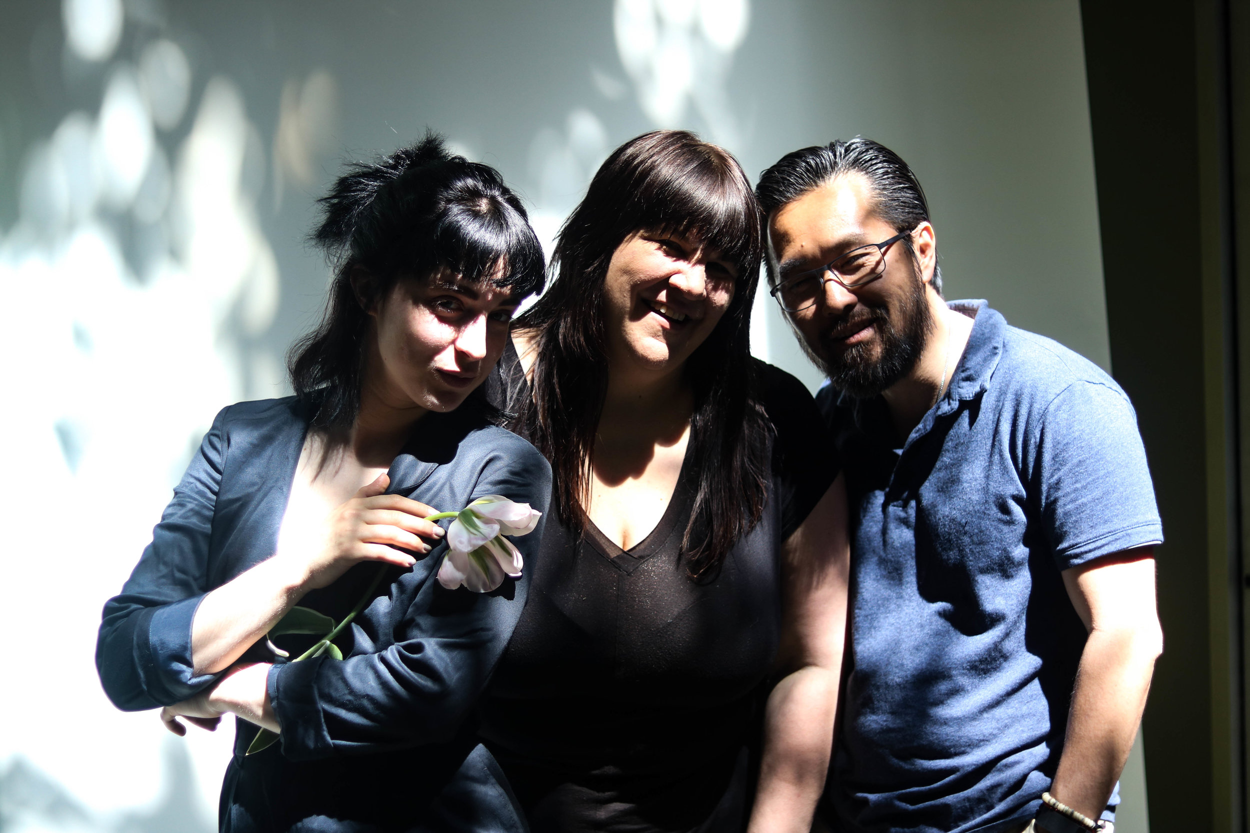 Pictured: FFC founder Ava Holmes, hair stylist Lisa Vann, and photographer James Cheng.