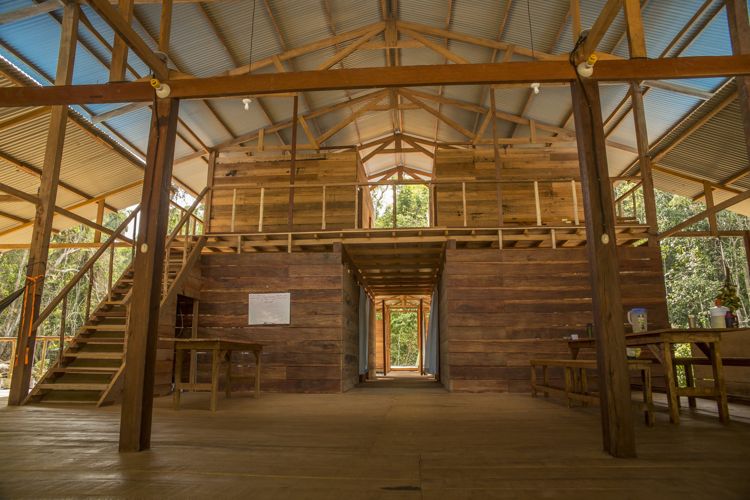 Pictured: The eco-lodge built for Hoja Nueva's research