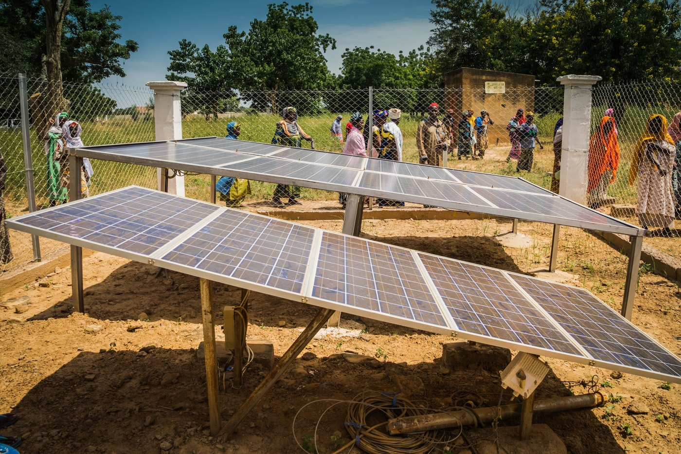 Photo by  UNPD  | Massantola, Mali installation of a clean pump system that uses solar energy for gardening