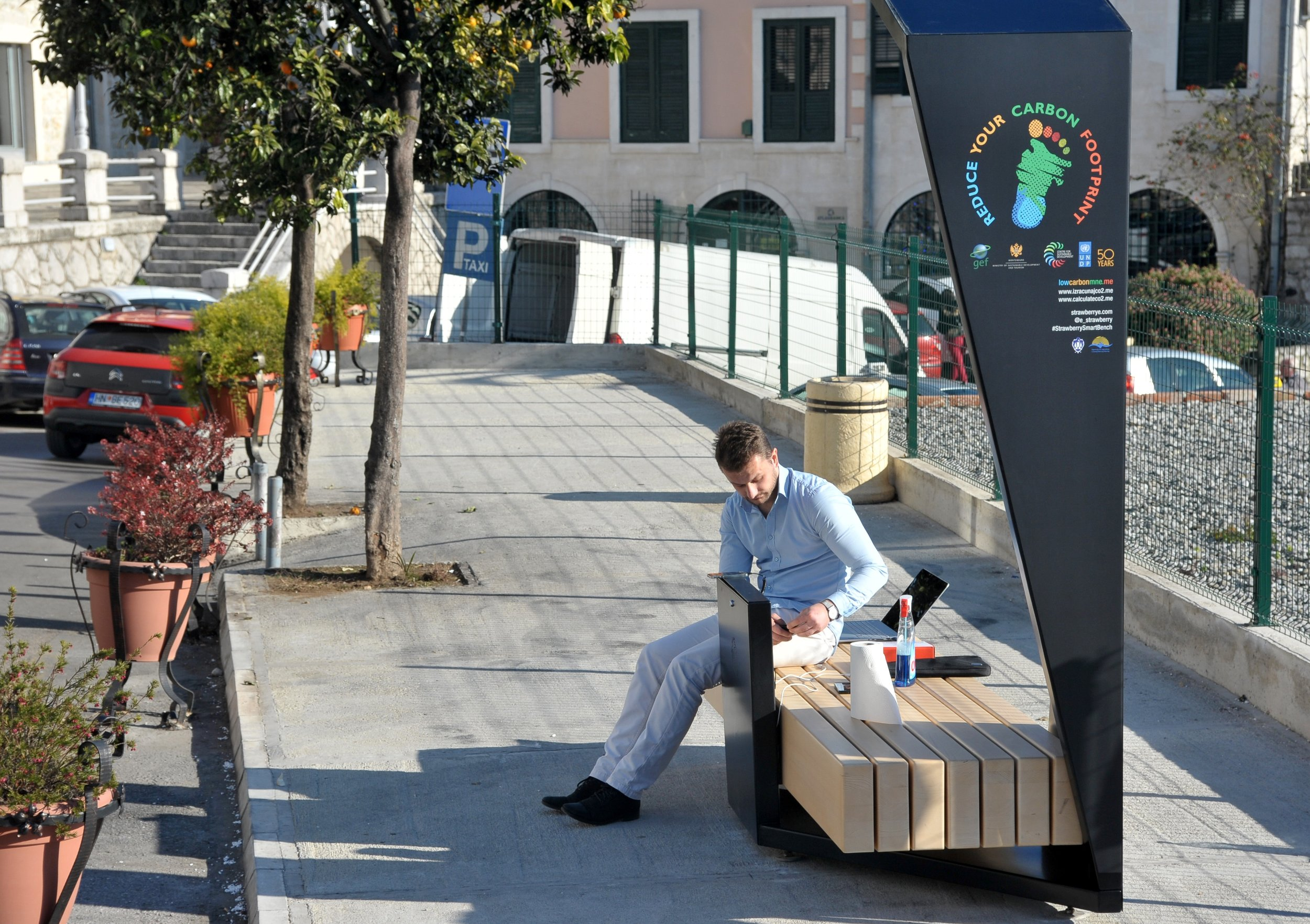Photo of public charging stations in Montenegro from UNDP