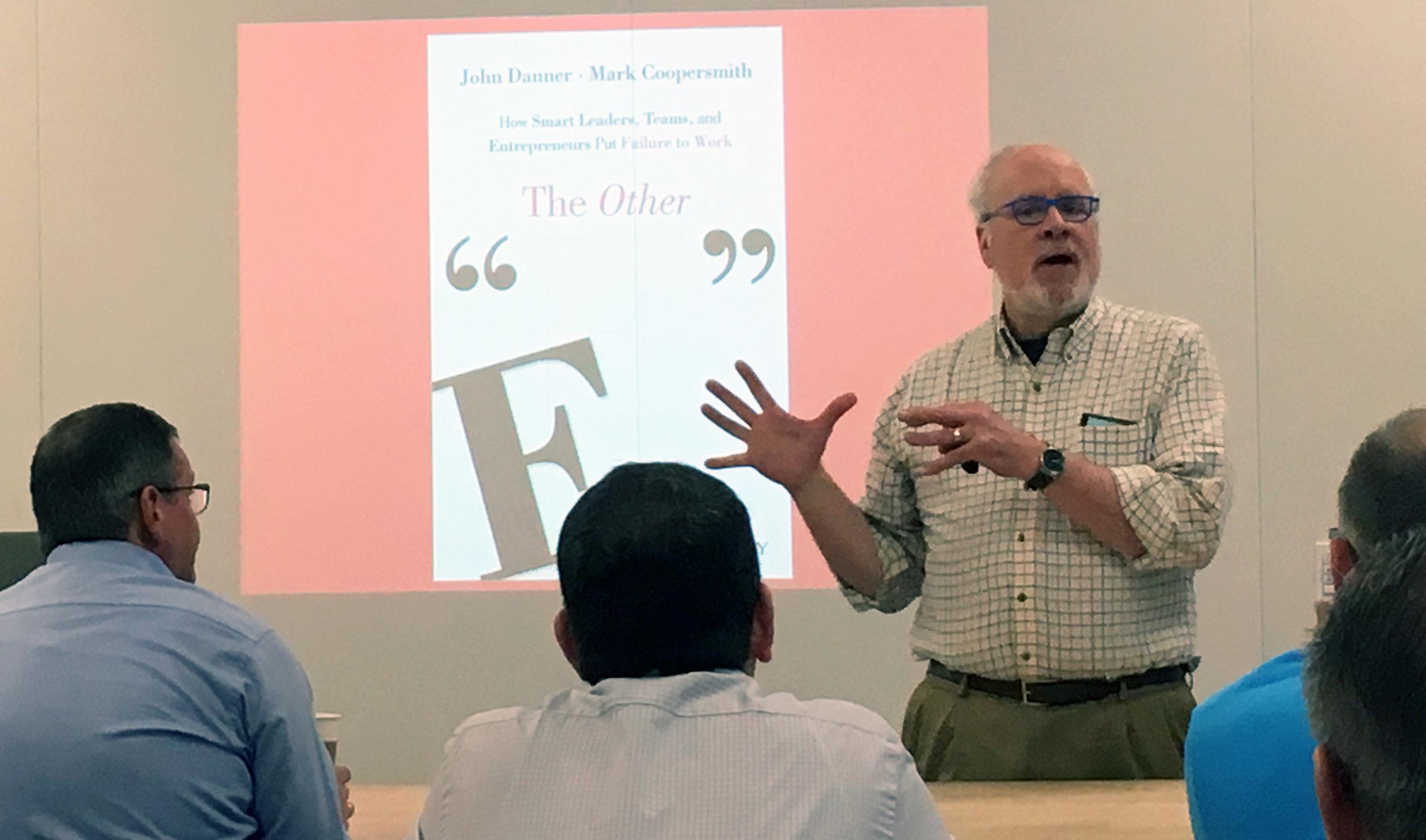 Author John Danner talks entrepreneurial failure culture.