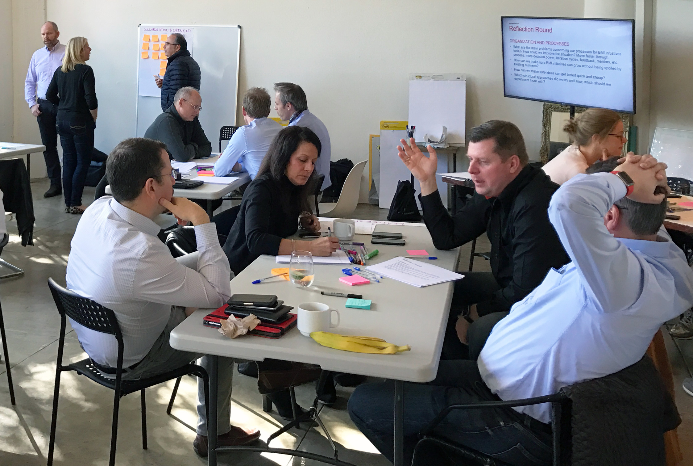 Group participants getting innovative.