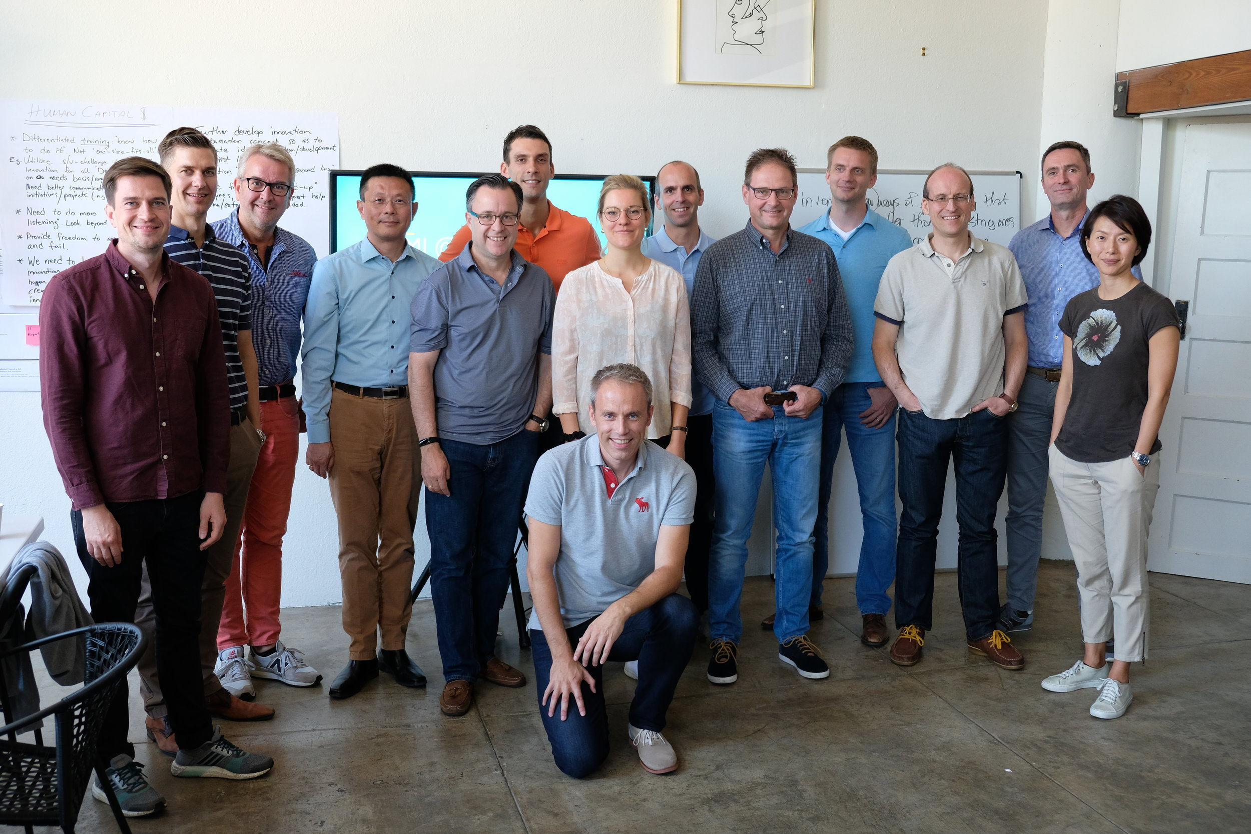 The full group after a workshop in San Francisco.