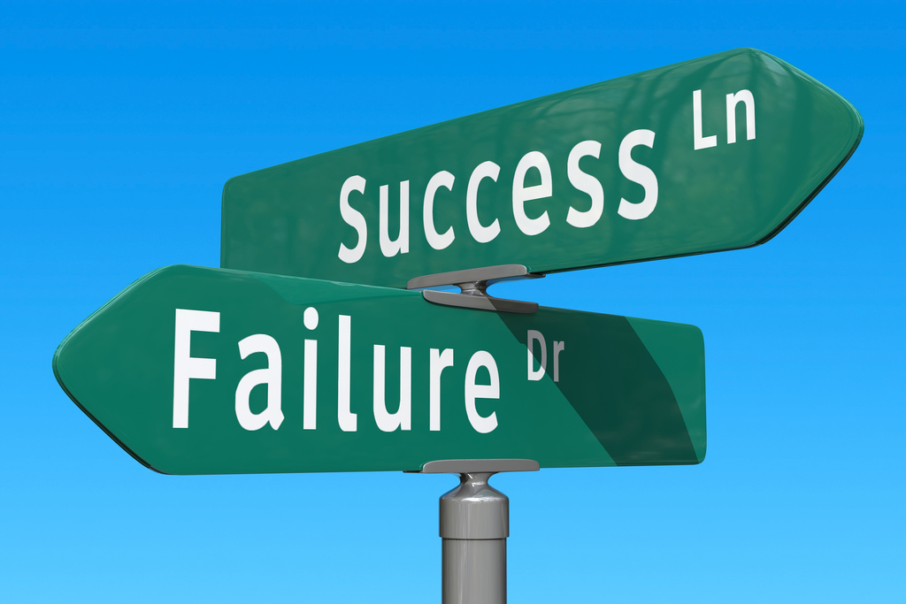Success and failure are deeply related in the startup world.