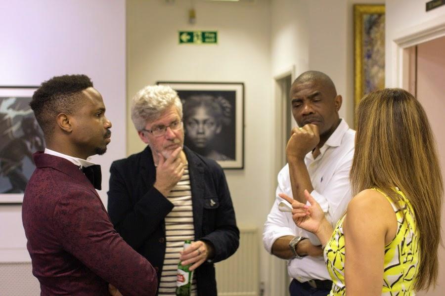 With Fareda Khan, David Tindall and Chukwudi Onwudiwe