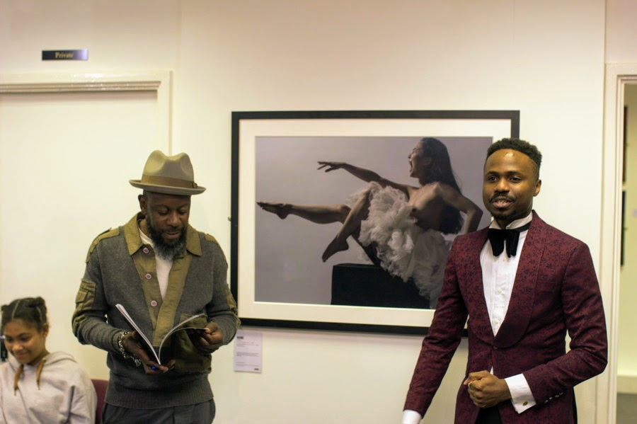 With Benji Reid at His retrospective exhibition of 'A Thousand Words'