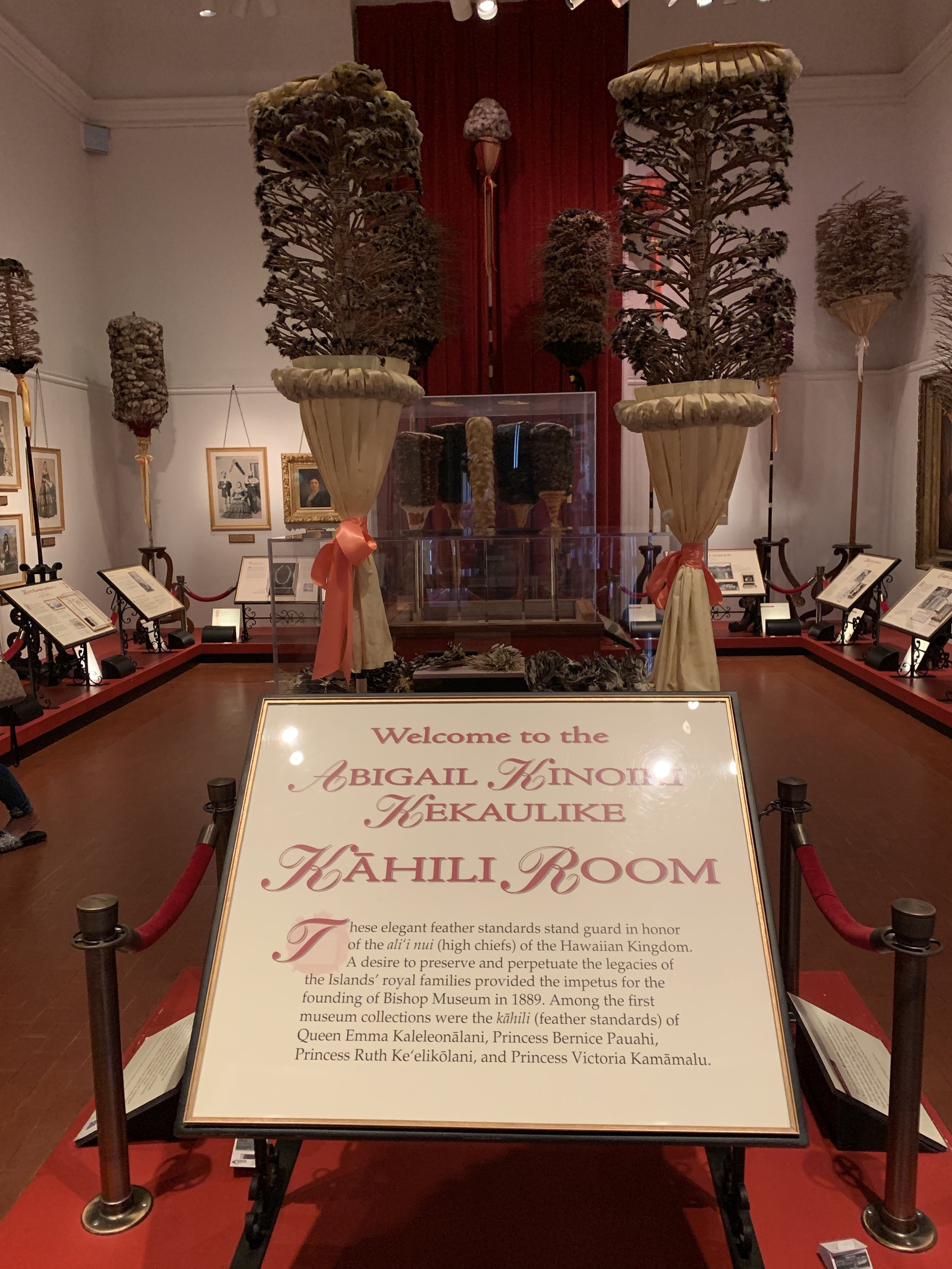 The Kahili Room at Bishop Museum