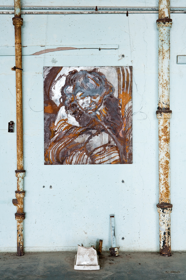 rusted steel, 36x36 inches, 2011