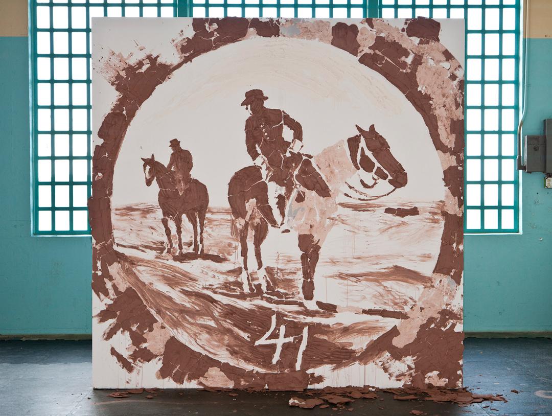 nails, terra cotta clay, porcelain slip on drywall