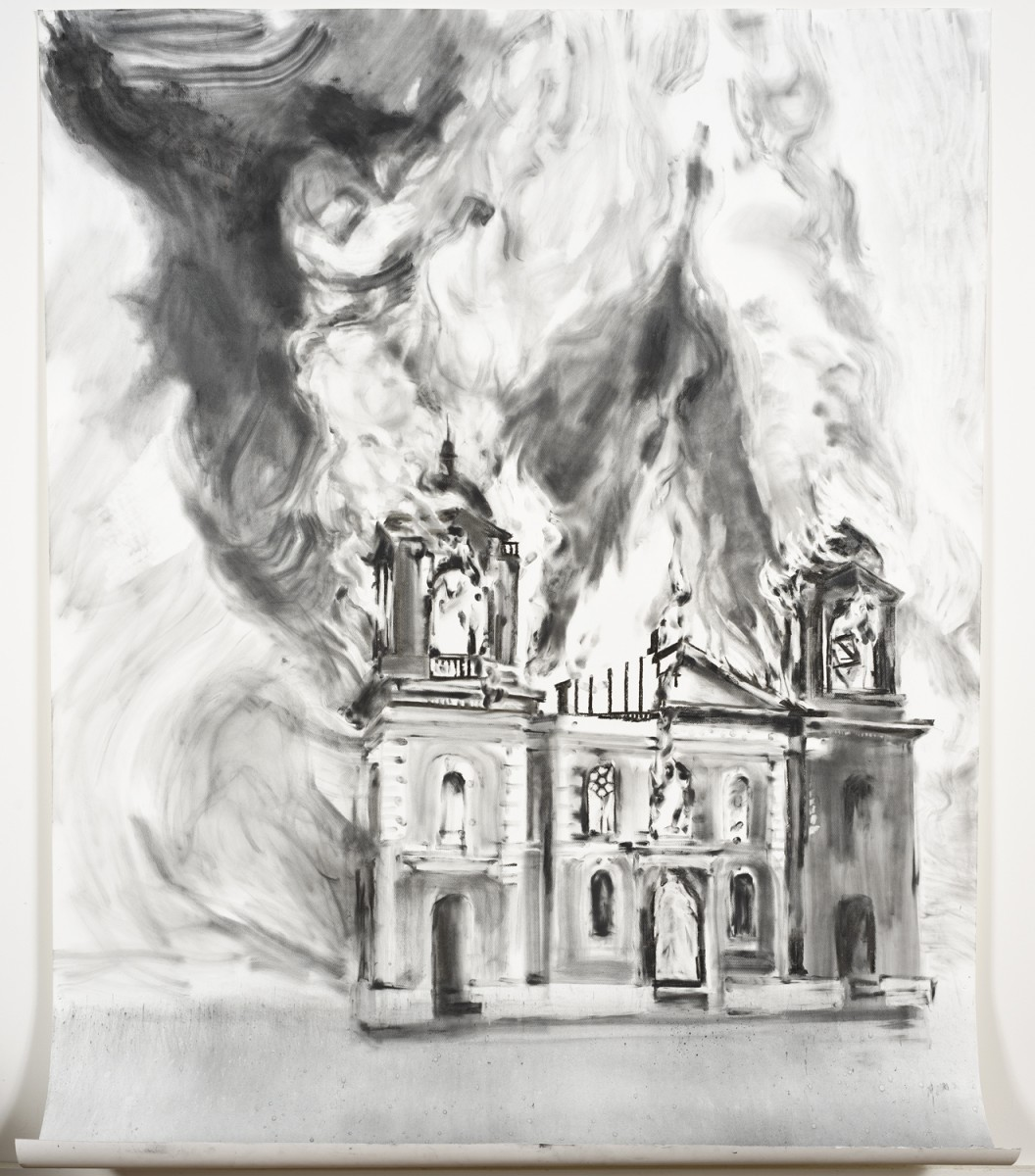 Mission Santa Clara Burning