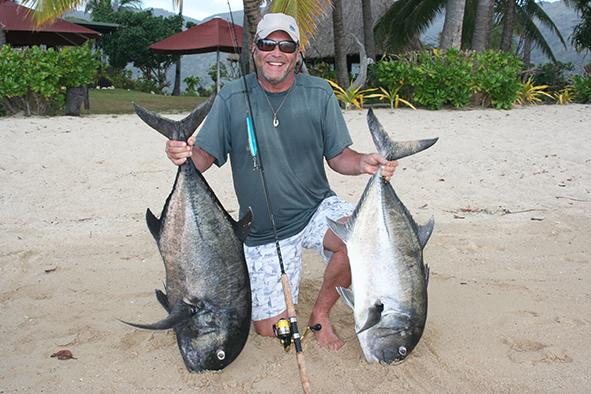 Writer Scott Lee reels in a couple of Fijian GT's
