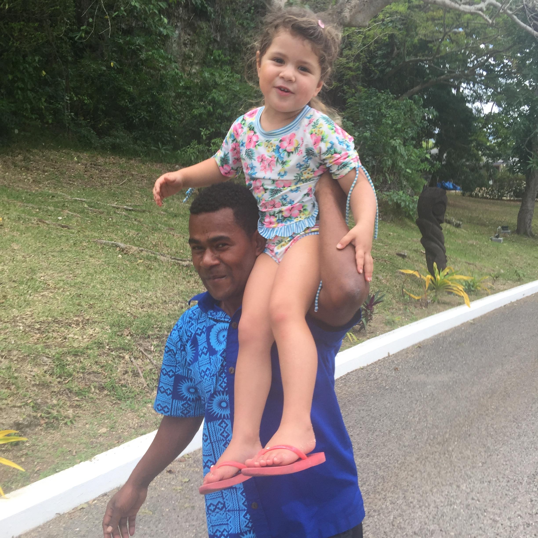 Hitching a ride, Iririki Resort and Spa, Vanuatu