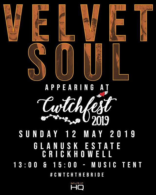One of the most amazing wedding fairs around is Cwtchfest! And we are privileged to be playing there this Sunday 12th....we'll be in the music tent so please come say hi 👋🏻 #weddingfair #wedding2019 #wedding2020 #cwtchfest2019 #weddingband #livemusic #partyband #wedding #bride #groom #weddingmusic #soul #disco #cwtchthebride  @cwtchthebride @wearemusichq