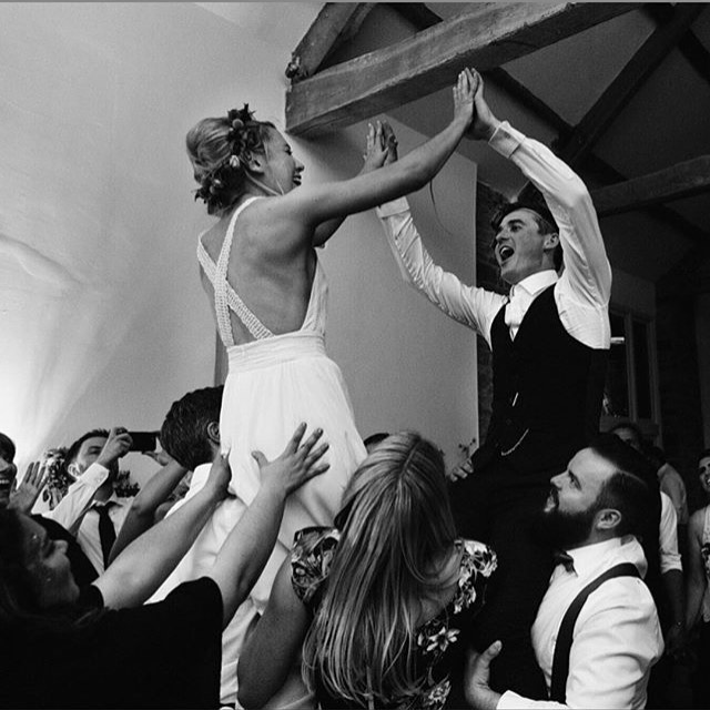 When the party literally reaches another level! Look at this stunning Bride and Groom at the brilliant @talljohnswedding in Brecon. Congratulations Rosa and Tom! ❤️ 📸: @jamesrichphoto  #cardiffbride #breconwedding #southwaleswedding #married #weddingparty #weddingband #liveweddingband #livemusic #partyband #soulband #disco #weddingguests #bride #groom @wearemusichq #photooftheday #cute #beautiful #happy #style #summer #follow
