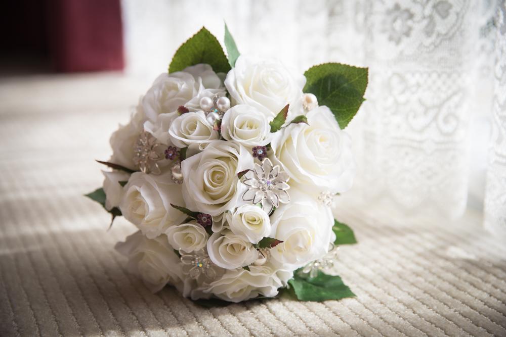 silk artificial wedding bouquet wedding photographer melbourne dandenong ranges victoria