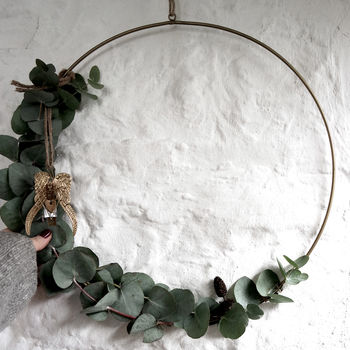 Hanging Brass Wreath , Not on the High Street