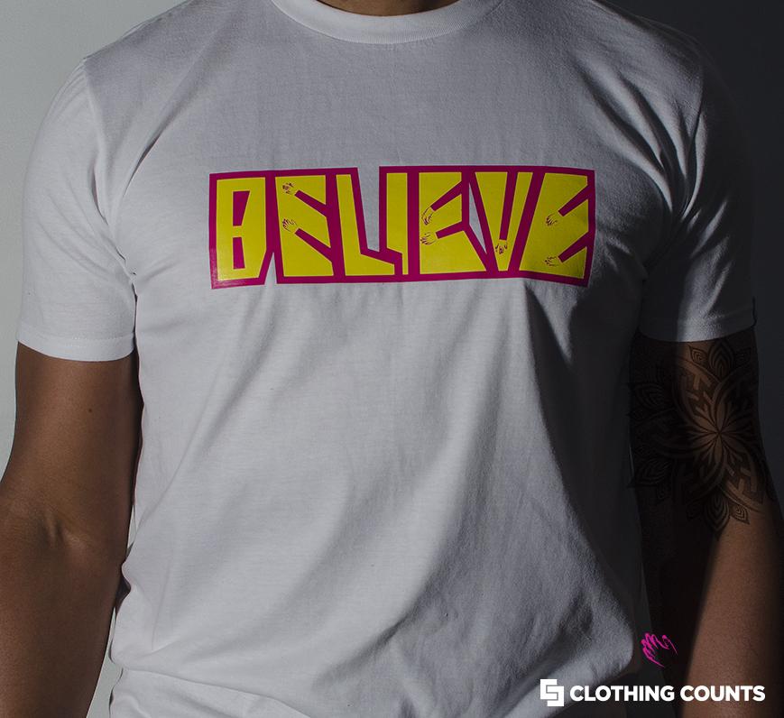 BELIEVE TEE  Every victory begins with belief.