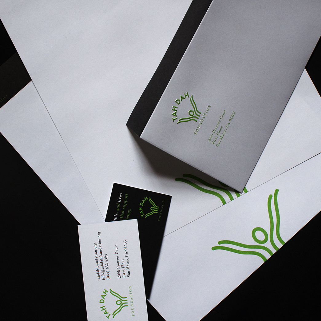 Fully custom print collateral.