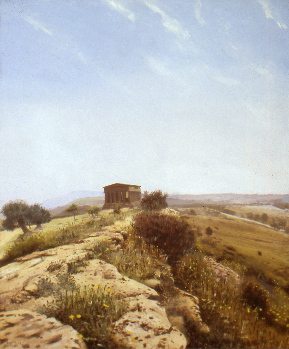 Limestone ridge and temple at Agrigento
