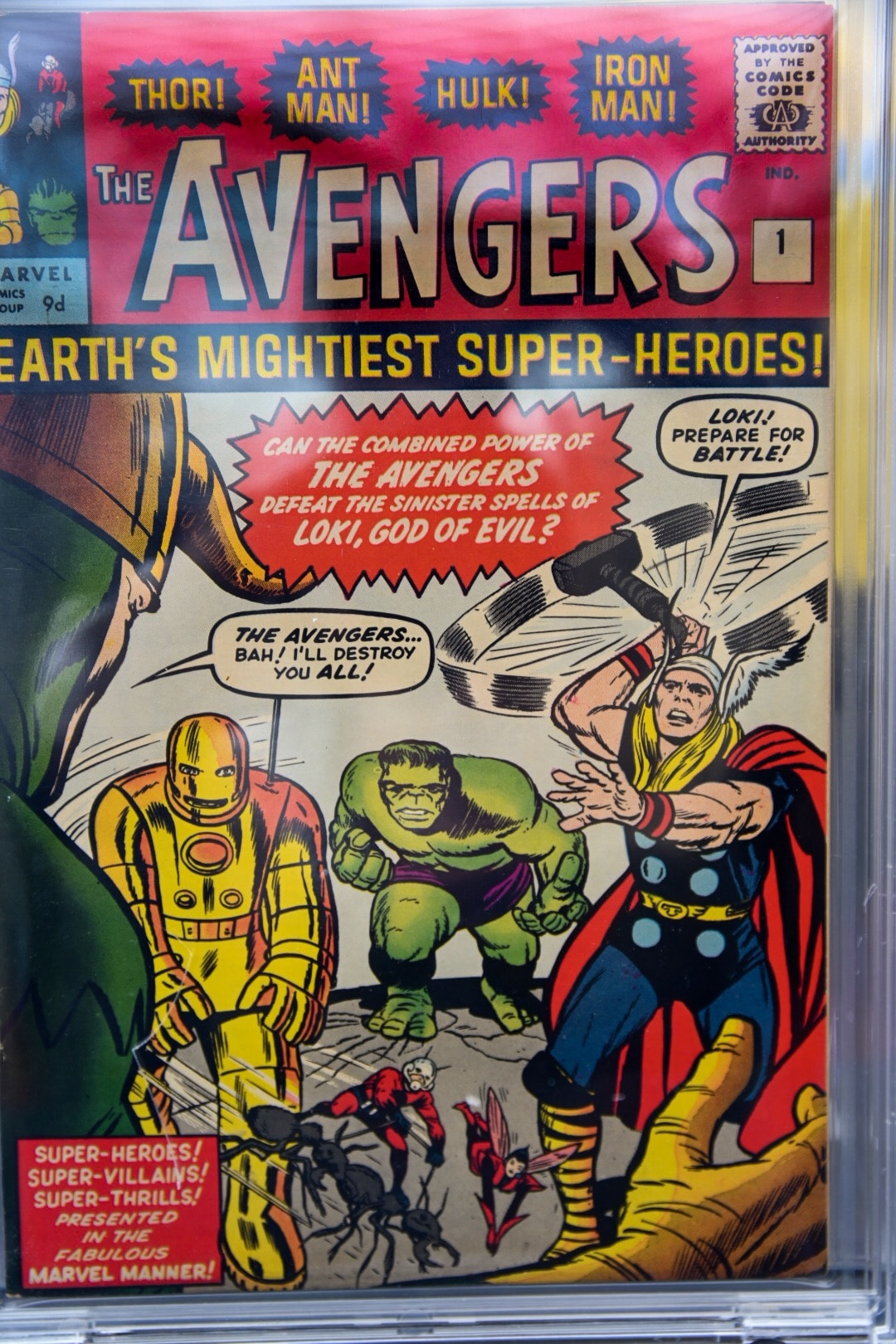 A rare first edition Avengers comic from 1963, on display at Trinity Leeds