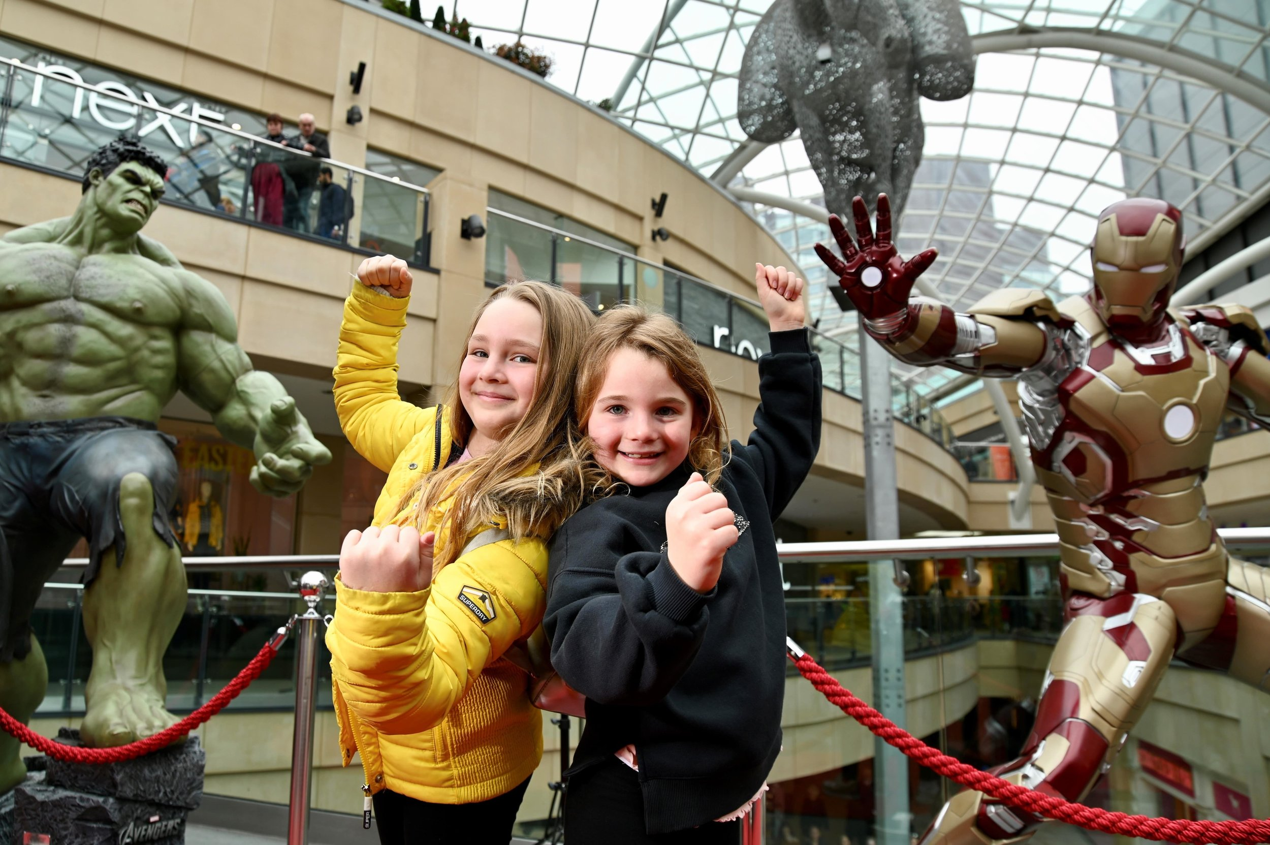 Chloe Tat, aged 9, and sister Sophie, 7, at Trinity Leeds