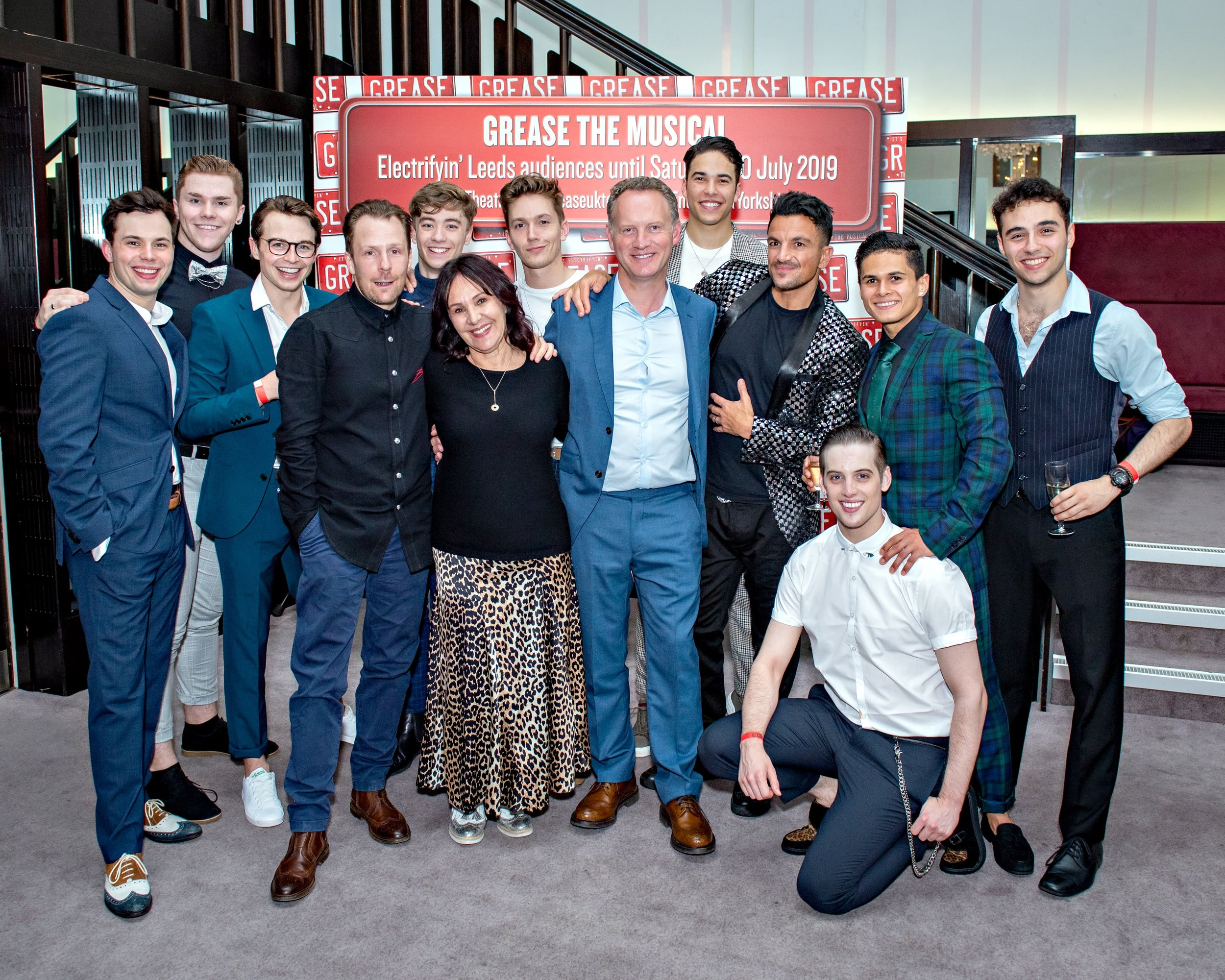 Grease Press Night - Male Cast with Nikolai Foster, Arlene Philips, Colin Ingram and Peter Andre-min.jpg