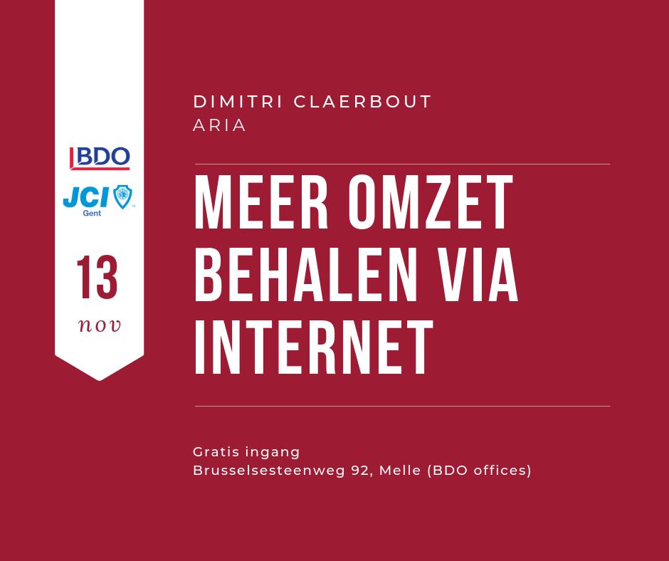 JCI Gent - Talk 'n Taste - BDO