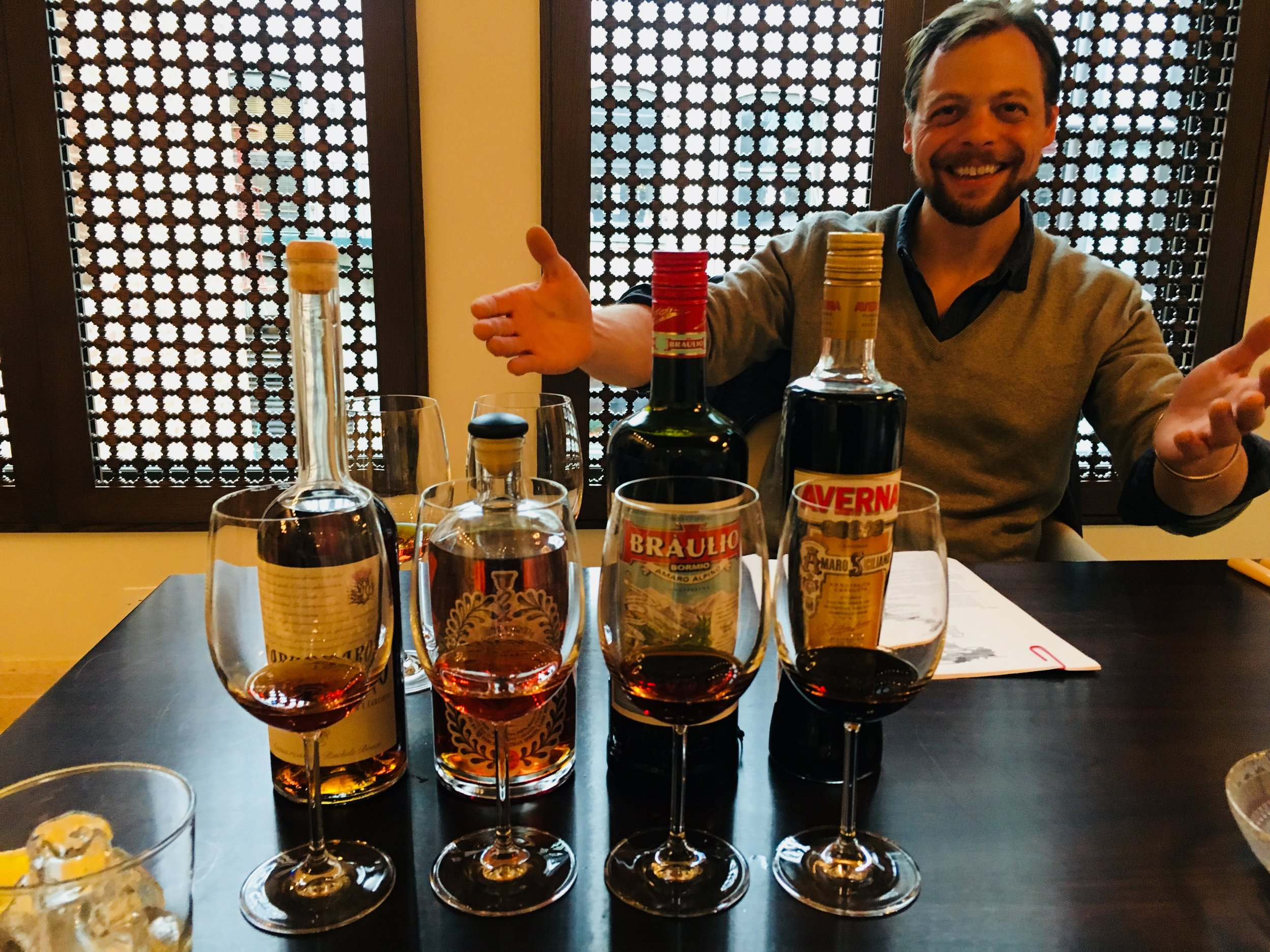 Teaching a private class on Amaro