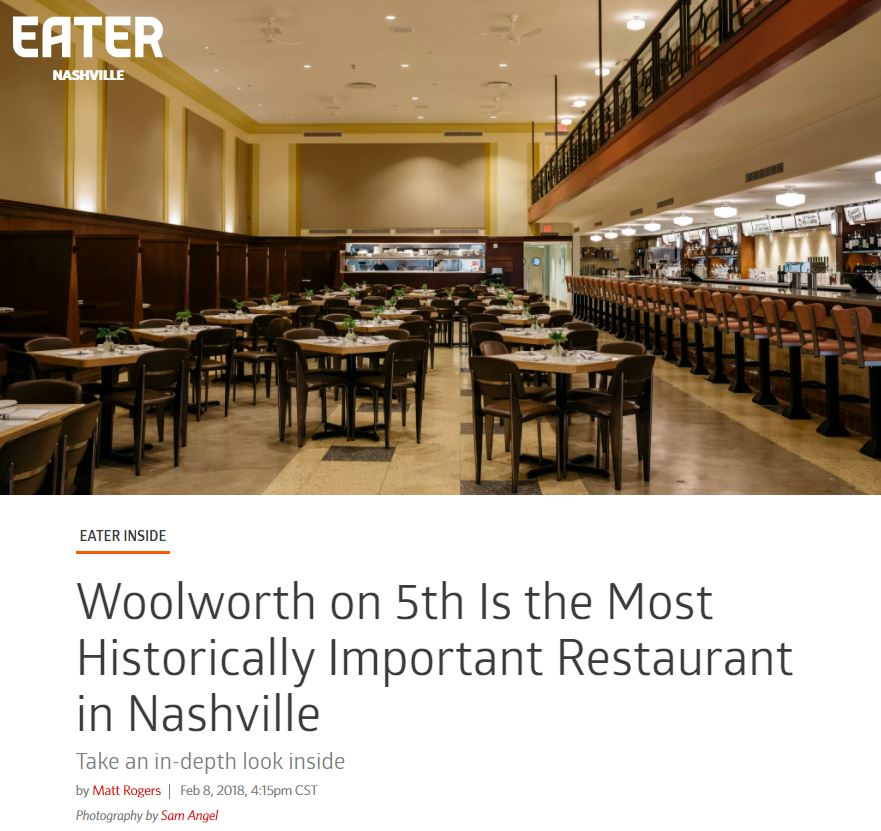 Woolworth featured in Nashville Eater