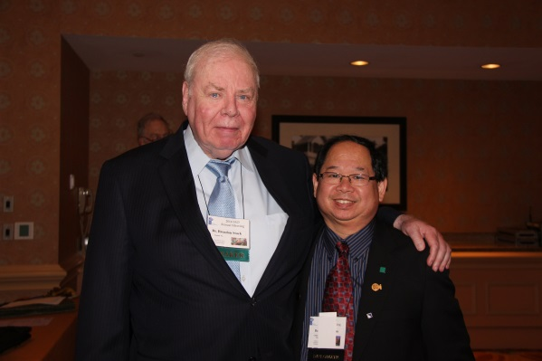 Dr. Brendan Stack and Dr. Edmund Liem, IBO Secretary.