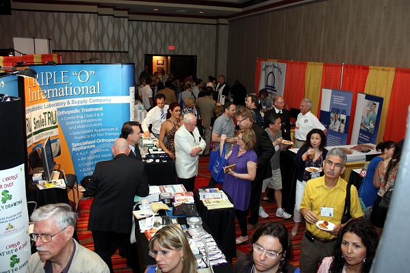 Busy exhibit hall at the 2012 IAO Annual Meeting