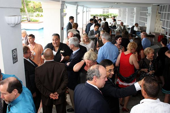 Doctors at a reception prior to the 2012 IAO Annual Banquet