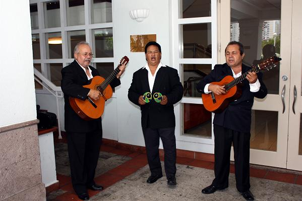 A Puerto Rican band welcoming IAO members to a reception