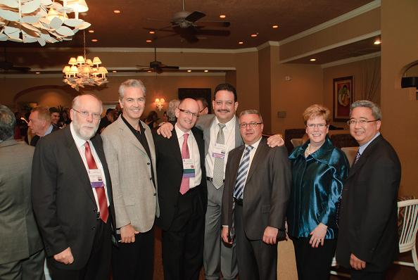 Some 2010-2011 Instructor Institute graduates enjoy a reception before the IAO Annual Banquet