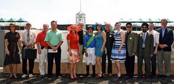 A race at Churchill Downs was named after the IAO so IAO members and staff got to pose with the winning jockey and trainer after the race.