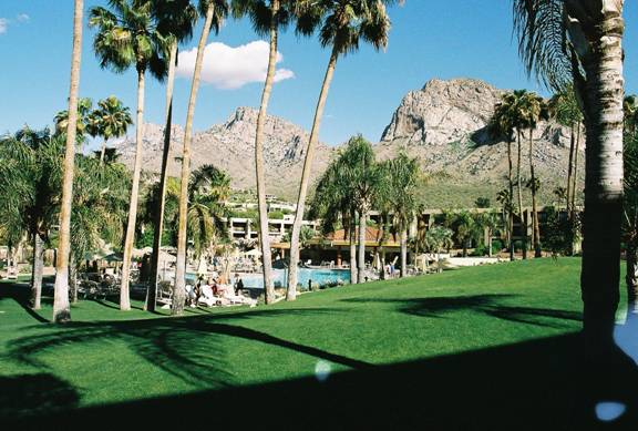 The beautiful Catalina Mountains as viewed from the 2007 IAO Annual Meeting site, the Hilton El Conquistador Resort in Tucson, Arizona